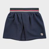 Paul Smith Girls' 7+ Years Navy Zebra-Logo Skirt With Glittered Stripes