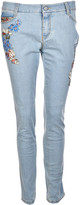 Ermanno Scervino Floral Patch Skinny Jeans