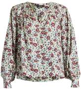 Isabel Marant Ryton floral-print silk-habotai top
