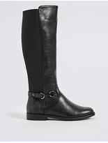 M&S Collection Block Heel Side Zip Knee High Boots
