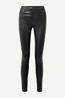 J BRAND - Maria Leather Skinny Pants - Black