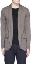 ATTACHMENT Shawl collar cotton jersey cardigan
