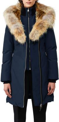 Mackage Trish Fur-Hood Bib-Underlay Coat