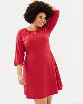 Junarose Abigail Three-Quarter Sleeve Dress