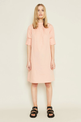 NATIVE YOUTH Plush Pink Rose Dress - S .