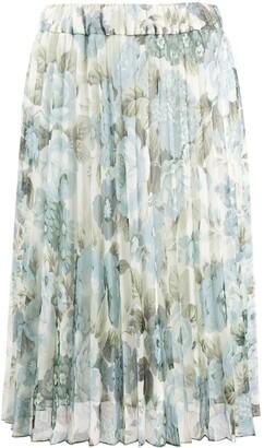 P.A.R.O.S.H. Pleated Floral Print Skirt