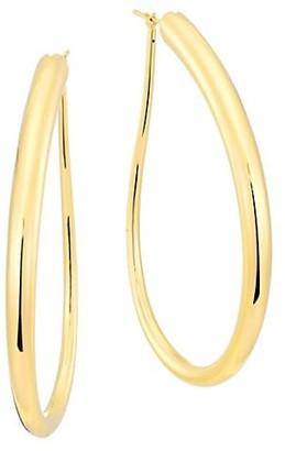 Alberto Milani Millennia 18K Gold Oblong Hoop Earrings
