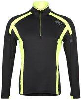 Gore Running Wear Air Sports Shirt Black/neon Yellow