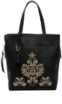 Badgley Mischka Leather Cage Tote