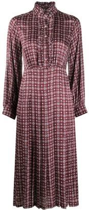 Sandro Paris Thina geometric-print dress