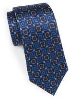 Saks Fifth Avenue 7-Fold Diamond Silk Tie