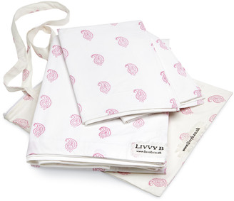 Livvy B - Coco Paisley Double Duvet Cover Pink - 200cmx200cm | cotton | pink - Pink/Pink