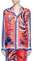 Emilio Pucci Cactus flower print silk pyjama shirt