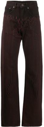 Y/Project Striped Wide-Leg Denim Jeans