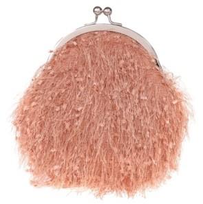 La Regale Confetti Feather Yarn Pouch Clutch