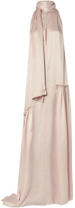 Ann Demeulemeester Ruched Silk-satin Gown