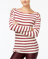 Jessica Simpson Striped Lace-Up Top
