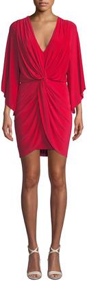 MISA Los Angeles Teget Draped Cocktail Dress