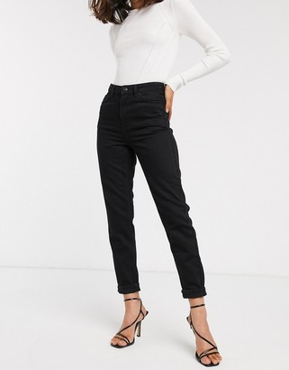 Topshop mom jeans in black