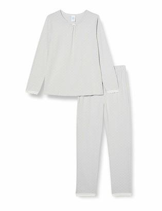 Sanetta Girl's Schlafanzug Silber Pajama Set