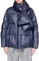 Muveil Detachable scarf down puffer jacket
