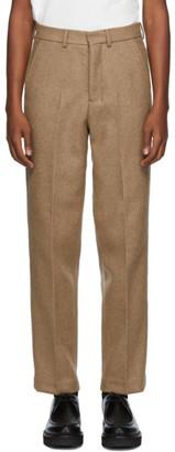 Ami Alexandre Mattiussi Beige Straight-Fit Trousers