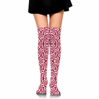 Wh Cla Compression Socks Christmas Peppermint Candy Scales Womens Long Socks Compression Socks Girls Novelty Outdoor Cosplay Over Knee High Boot Sock Over Knee Leg Warmers Dress Thigh Hi