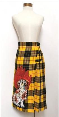 Gucci Yellow Wool Skirt for Women