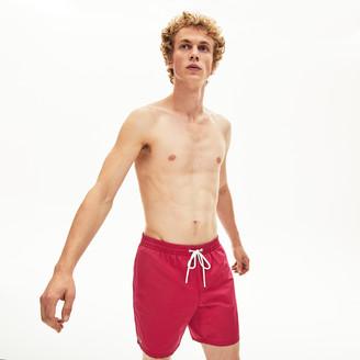 Lacoste Men's Lightweight Cotton Swim Trunks With Pockets