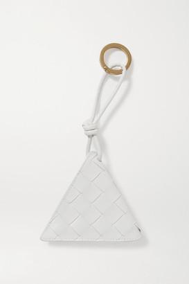 Bottega Veneta Intrecciato Leather Keyring - White