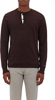 Rag & Bone Men's Standard Issue Mélange Classic Henley-BURGUNDY