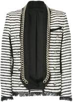 Balmain Spencer tweed striped jacket