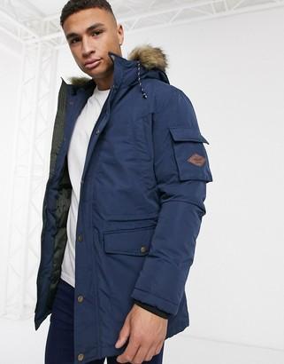 Produkt parka jacket with faux fur hood