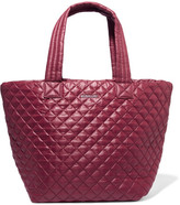 MZ Wallace Metro Quilted Shell Tote - Burgundy