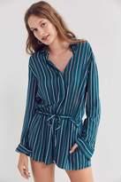 Silence & Noise Silence + Noise Benji Striped Button-Down Pyjama Playsuit
