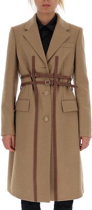 Burberry Harness Detail Tailored Coat