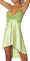 BeautyIn Sexy Lingerie Women's Sleepwear Satin Nightgown Silk Chemise Slip