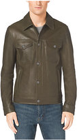 Michael Kors Button-Front Leather Jacket