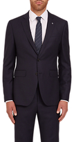 Jaeger Textured Wool Regular Fit Suit Jacket, Navy