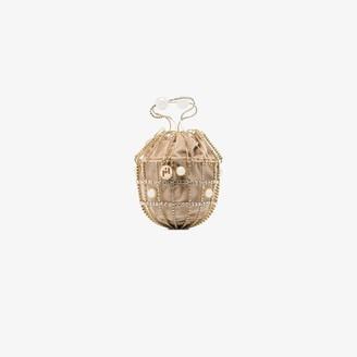 Rosantica gold tone Ginestra crystal velvet bracelet bag
