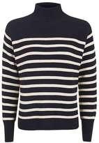 Stripe cocoon jumper