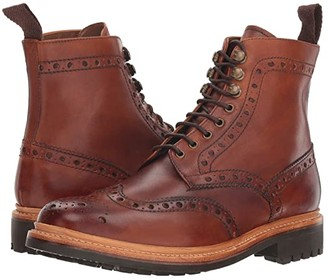 Grenson Fred Commando Sole Boot (Tan Hand Painted Calf) Men's Boots
