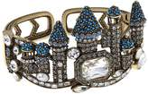 """Heidi Daus Disney's Beauty and the Beast """"Captivating Castle"""" Crystal-Accented Cuff Bracelet"""