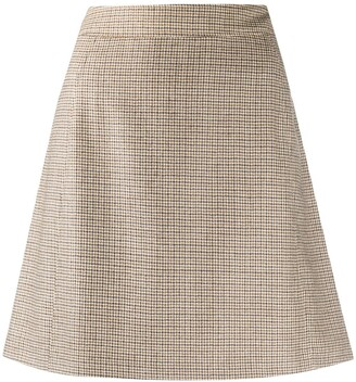 A.P.C. Sonia houndstooth A-line mini skirt