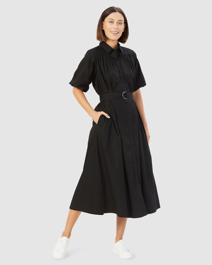French Connection Women's Dresses - Puff Sleeve Midi Dress - Size One Size, 14 at The Iconic