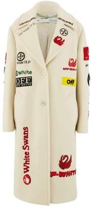 Off-White Off White Wool blend multi-logo coat