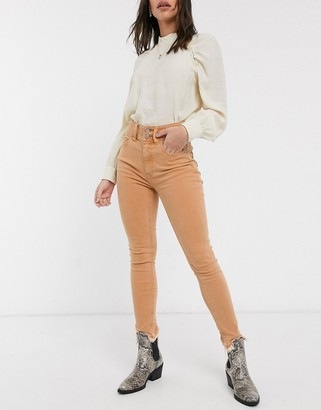 We The Free by Free People wild child skinny jean in peach