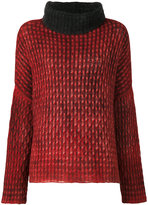 Avant Toi tubular neck sweater