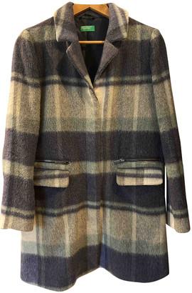 Benetton Blue Wool Coats