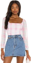 Thumbnail for your product : BCBGeneration Mesh Gingham Top